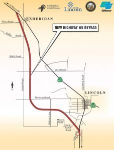 Lincoln Bypass Map